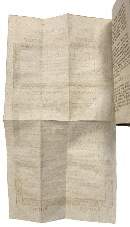 WZORY Talarów - kompletny arkusz wraz z Dziennikiem Ustaw - RZADKOŚĆ