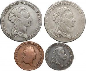 Poniatowski, TALARY, złotówka i trojak 1767-1795 (4szt)