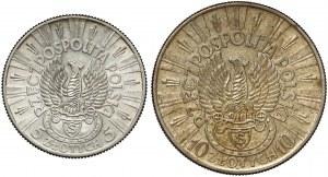 Strzelecki, Piłsudski 5 i 10 złotych 1934 (2szt)