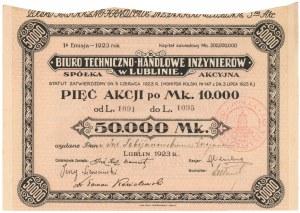 Biuro Techniczno-Handlowe Inżynierów w Lublinie, Em.1, 5x 10.000 mk