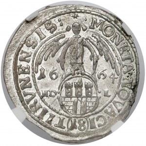 Jan II Kazimierz, Ort Toruń 1664 HDL - z błędem - PIĘKNY