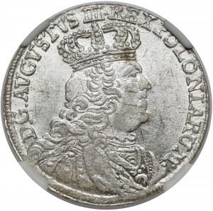 August III Sas, Dwuzłotówka Lipsk 1753 - bez EC - rzadkie popiersie