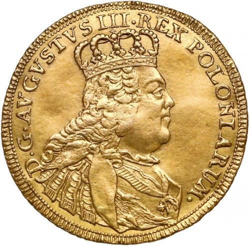 August III Sas, Dwudukat Lipsk 1753 EDC - rzadkość