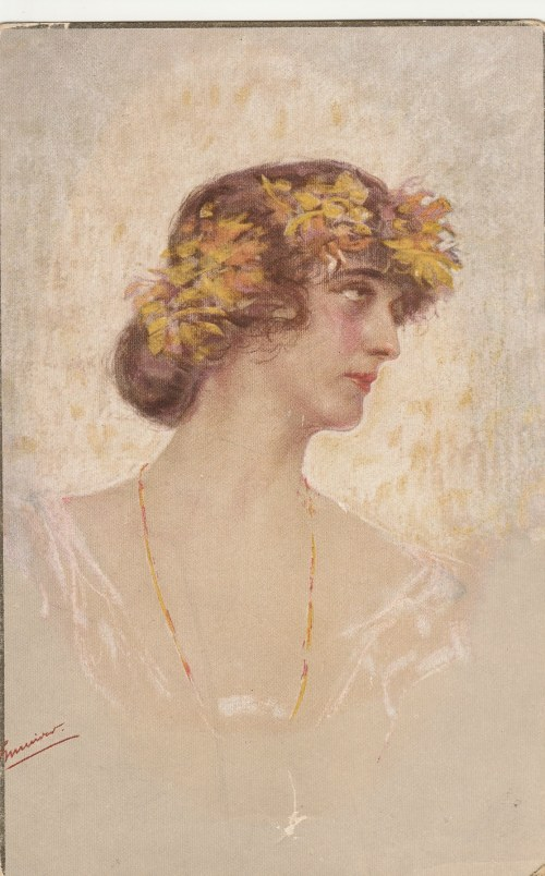 POLSKA. Portret kobiety wyd. przed 1939; kolor., stan db, bez obiegu