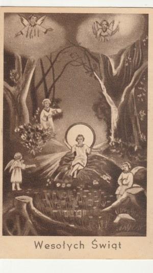 POLSKA. Wesołych Świąt, wyd. ARS CHRISTIANA, Warszawa, ok. 1951; cz.-b.