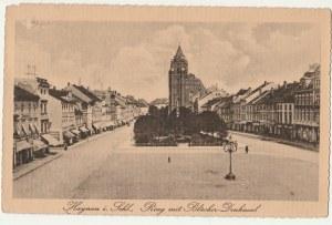 CHOJNÓW. Haynau i. Schl. Ring mit Blücher -Denkmal, wyd