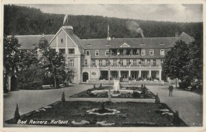 DUSZNIKI-ZDRÓJ. Bad Reinerz, Kurhaus, wyd. Conrad Jacobi, Leipzig, 1934; cz.-b.