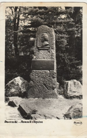 DUSZNIKI-ZDRÓJ. Duszniki – Pomnik Chopina, wyd. Sp-nia Fotograf, Kłodzko, ok