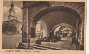 JELENIA GÓRA. JELENIA GÓRA / Ratusz i Arkady, wyd. W.Z.G. Poznań, przed 1960