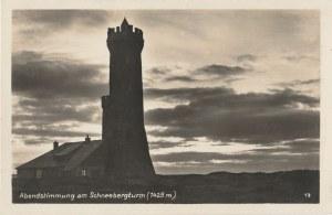 KŁODZKO. Abendstimmung am Schneebergturm (1425 m.), wyd. Heimkarten Photo