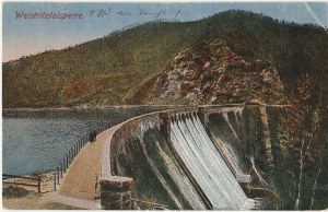 WALIM. Weistritztalsperre, wyd. Aug. Tauch, Kynau, ok. 1922; kolor., stan db