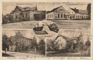 WĘGLINIEC. Kohlfurt i. Schles.: Bergwerks -Direktion, Hotel Waldhaus