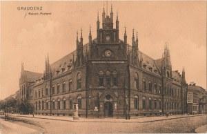 GRUDZIĄDZ. Graudenz, Kaiserl. Postamt, wyd. Arnold Kriedte, Graudenz, 1908; cz.