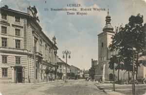 LUBLIN. LUBLIN / Ul. Namiestnikowska, Kościół Wizytek, Teatr Miejski, wyd. Fr