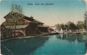 "LUBLIN. Lublin. Teatr letni ""Rusałka"", wyd. A. J. O., 1916; kolor., stan db"