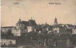 LUBLIN. Lublin. Widok ogólny, wyd. ok. 1913; cz.-b., stan db