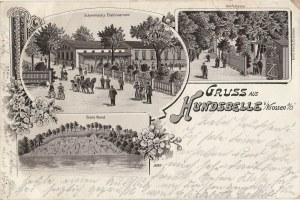 CHYŻE. Gruss aus Hundsbelle b/ Krossen a/ O., wyd. Emil Koch, Crossen, ok. 1900