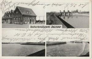 DYCHÓW. Boberkraftwerk Deichow; wyd. Fritz Tuttass, Naumburg a. B., ok. 1925