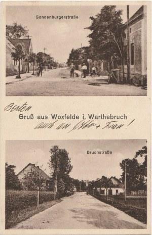 GŁUCHOWO. Gruß aus Woxefelde i. Warthebruch, Sonnenburgerstraße, Bruchstraße
