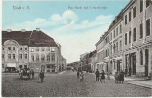 KOSTRZYN NAD ODRĄ. Cüstrin A., Am Markt mit Kielzerstraße, wyd