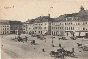KOSTRZYN NAD ODRĄ. Cüstrin A., Markt, wyd. Kunstverlag Herm. Lukowski, Breslau