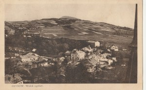 GRYBÓW. GRYBÓW. Widok ogólny, wyd. M. Kumorkiewicz, Grybów, ok. 1938; cz.-b.