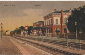 CHOJNICE. Konitz i. Wpr. / Bahnhof, wyd. J. Heyn, Söhne, Kunsthandlung, Konitz
