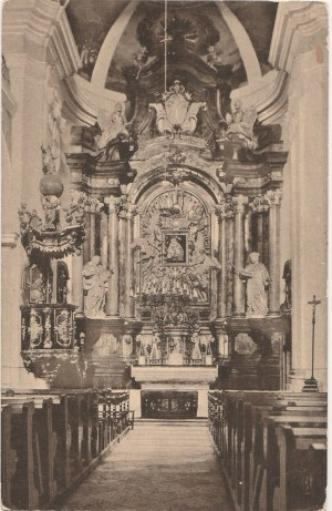 CHOJNICE. Konitz, Inneres der Gymnasialkirche, wyd. J. Themal, Posen, ok 1913