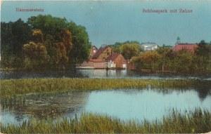 CZARNE. Hammerstein / Schlosspark mit Zahne, wyd. ok. 1915; kolor., stan db
