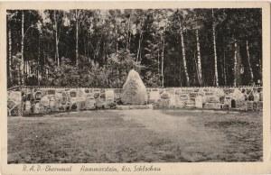 CZARNE. R.A.D.-Ehrenmal, Hammerstein, Krs. Schlochau, wyd. Rudolf Streich