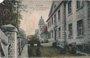 CZERSK. Czersk / Partie an der Bahnhofstraße mit Kgl. Amtsgericht, wyd. Verl.
