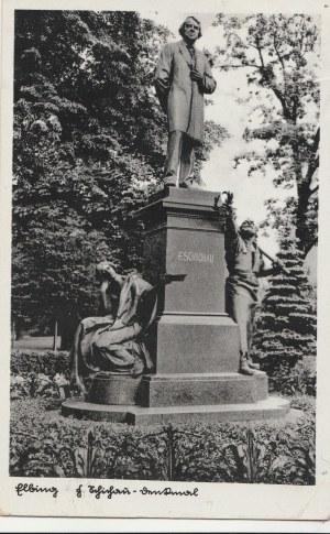 ELBLĄG. Elbing F. Schichau-Denkmal, wyd. Schöning & Co. Lübeck, przed 1939; cz.