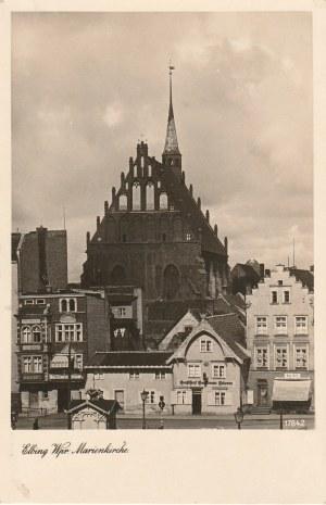 ELBLĄG. Elbing Wpr., Marienkirche, wyd. Geyer, Co., Breslau, ok. 1925; cz.-b.