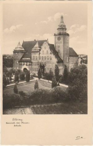 ELBLĄG. Elbing, Heinrich von Plauen. Schule, wyd. Trinks, Co., G.m.b.H.