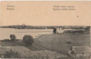 KRESY. Siebiez, Ogólny widok miasta, wyd. B. Kuszlisa, ok. 1919; cz.-b.