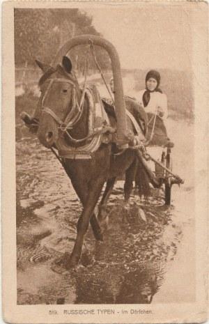 BRZEŚĆ. Russische Typen - im Dörfchen, wyd. Knackstedt, Co., Hamburg, ok. 1917
