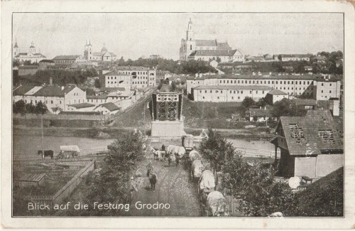 GRODNO. Blick auf die Festung Grodno, wyd. 1917; cz.-b., stan db