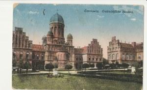 CZERNIOWCE. Czernowitz. Erzbischöfliche Residenz, wyd. przed 1918; kolor.