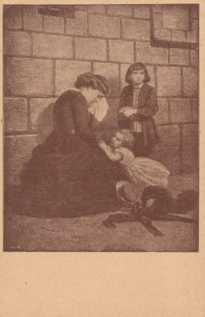 LWÓW. Reprodukcja obrazu Artura Grottgera: Pod murami więzienia, wyd