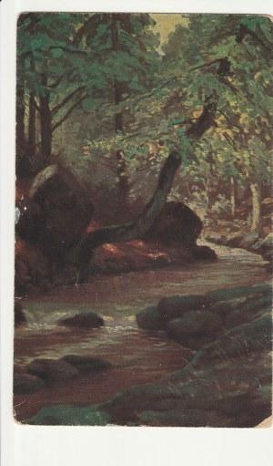 EUROPA. Krajobraz, wyd. przed 1939; kolor., stan db, drobne uszkodzenia