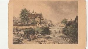 EUROPA. Wodospad, wyd. przed 1918; kolor., stan db, drobne zabrudzenia