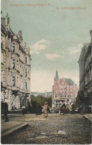 KRÓLEWIEC, KALININGRAD. Gruss aus Königsberg i. Pr., Gr. Schlossleichstrasse