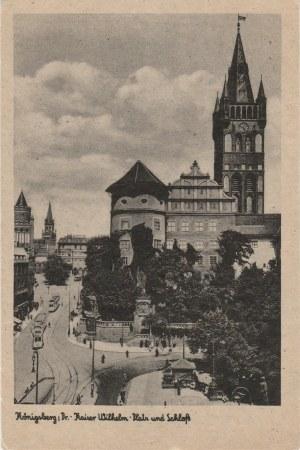 KRÓLEWIEC, KALININGRAD. Königsberg i Pr. Kaiser Wilhelm Platz und Schloß, wyd