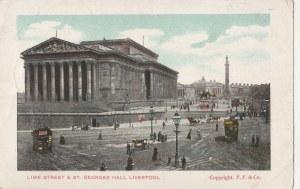 LIVERPOOL. LIME STREET & ST. GEORGES HALL LIVERPOOL, wyd. F.F.&Co. ok. 1910