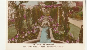 LONDYN. THE COURT OF FOUNTAINS / THE DERRY ROOF GARDENS KENSINGTON. LONDON, wyd