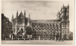 LONDYN. WESTMINSTER ABBEY LONDON, wyd. Valentine & Sons LTD, Dundee and London