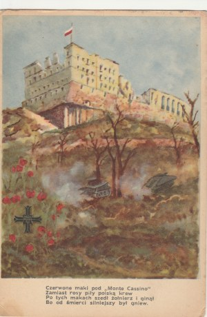 MONTE CASSINO. Klasztor, wyd. ZBOWID Z.O., Warszawa przed 1989; kolor., stan db