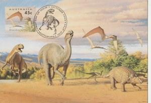 AUSTRALIA. Dinozaury, wyd. Muttaburra, 1993; kolor., stan bdb, bez obiegu