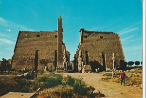 KAIR. LUXOR- Entrance Luxor Temple; wyd. Photo and copy rights reserved F. H