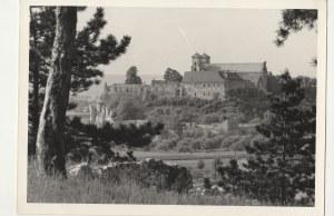 POLSKA. Zamek, fot. cz.-b., stan db, wykon. ok. 1965, na verso tekst listu